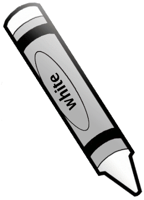 White Crayon Clipart - Clipart Kid