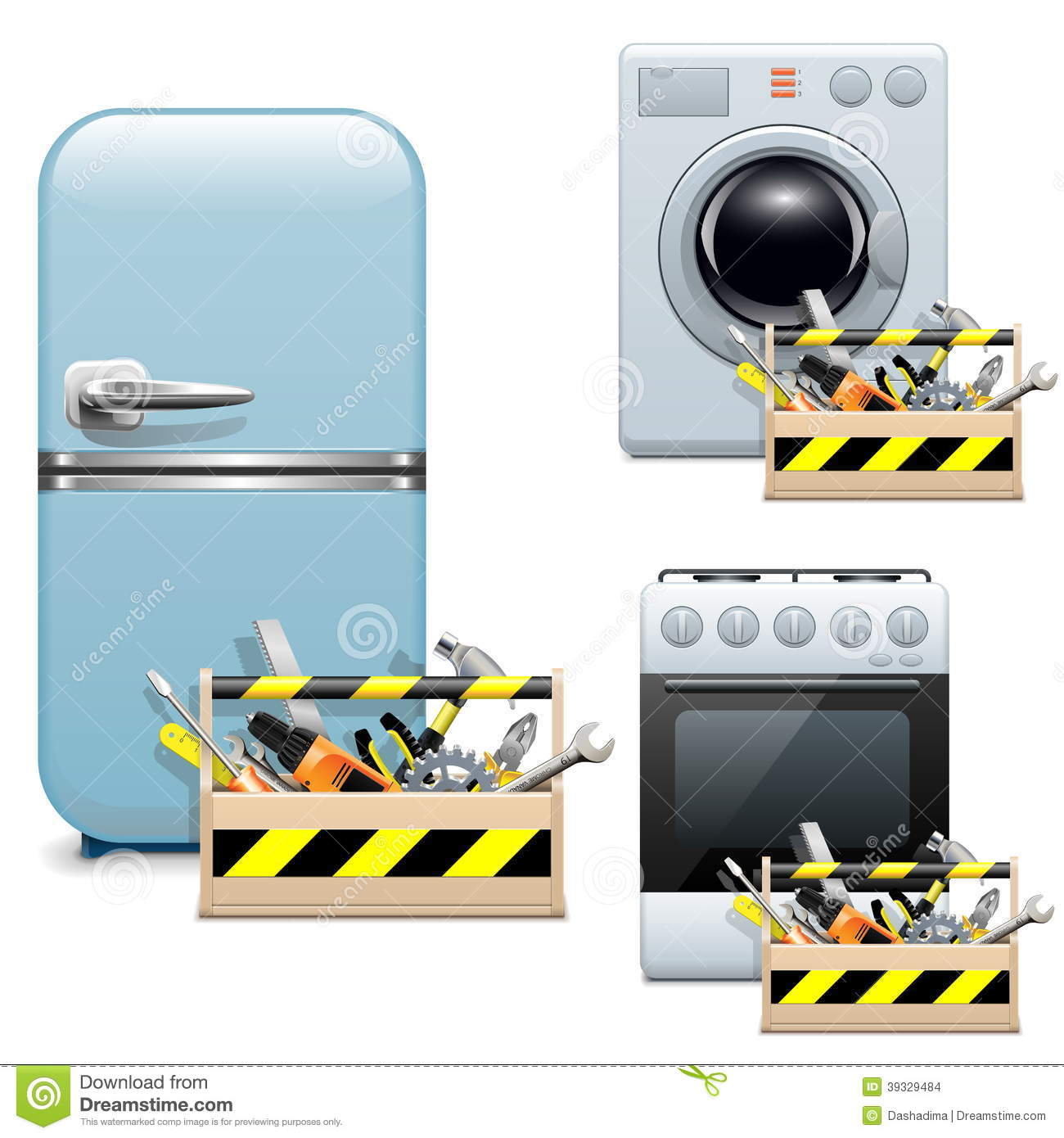 Clothes Dryer Repair Clip Art