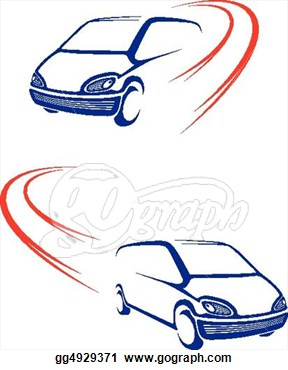 Eps Illustration   Fast Car On Road  Vector Clipart Gg4929371