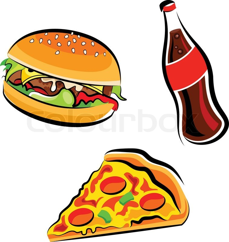 Fast Food Clipart   Vector   Colourbox
