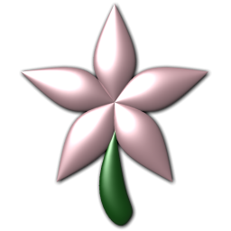 Five Petal Pink Flower Icon Png Clipart Image