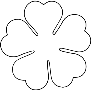 Flower Love Five Petal Template Clipart Cliparts Of Flower Love Five