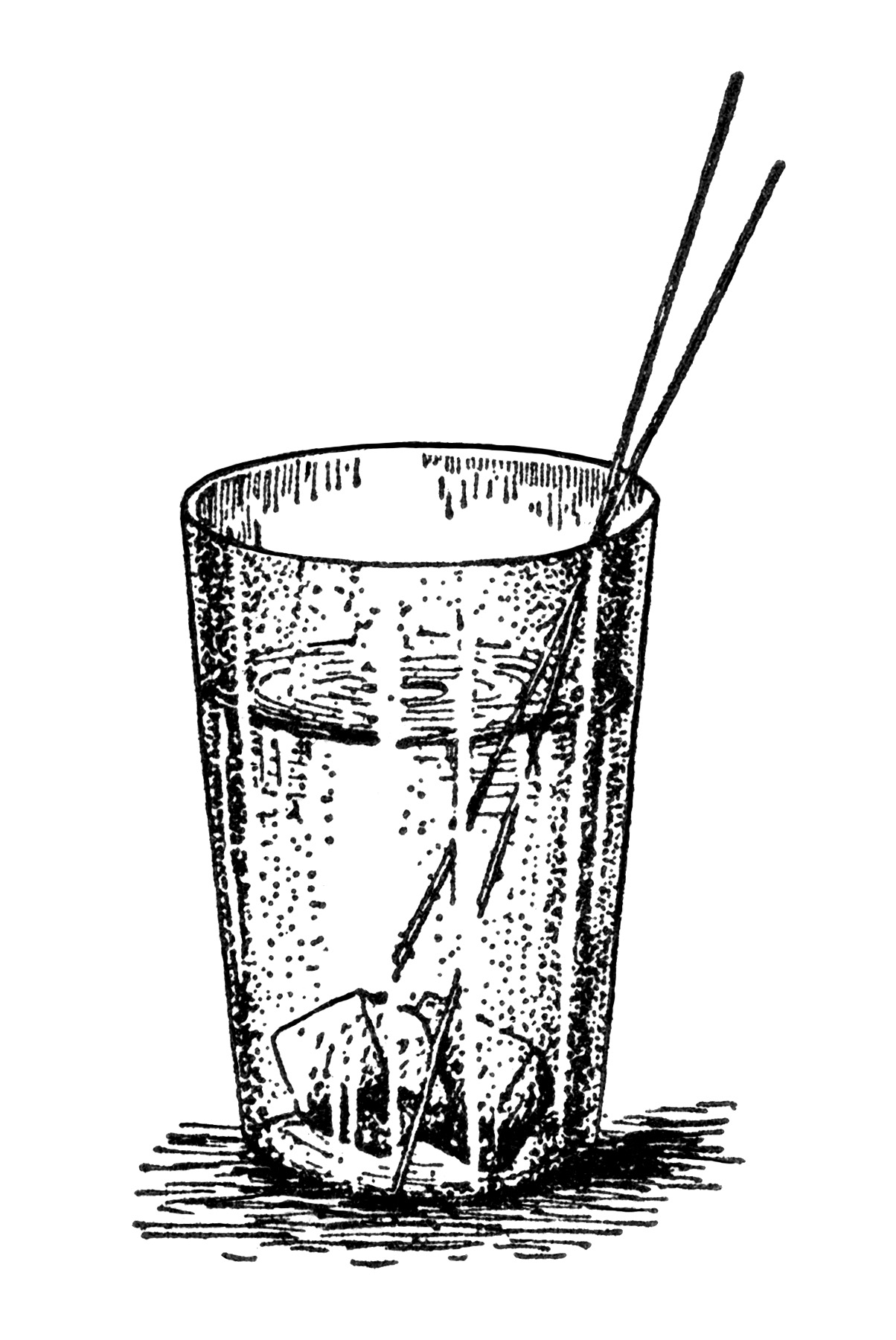Drinking Water Black And White Clipart - Clipart Suggest
