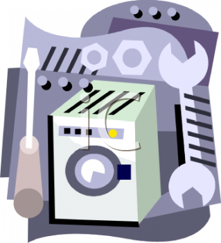 Household Appliance Repair   Washing Machine Or Washer   Royalty Free