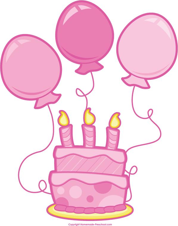 Pink Birthday Balloons Clipart - Clipart Kid