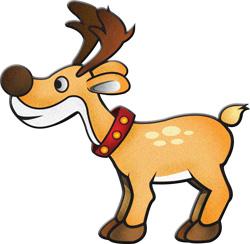 Reindeer and rudolf modern clipart christmasgifts com