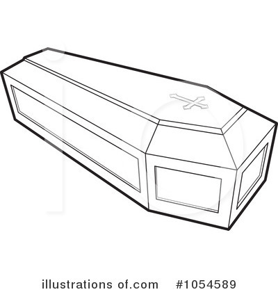 Royalty Free  Rf  Coffin Clipart Illustration By Lal Perera   Stock