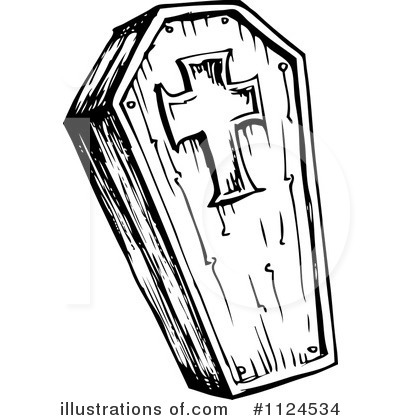 Royalty Free  Rf  Coffin Clipart Illustration By Visekart   Stock