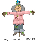 Scarecrow Of Edge Of Bear Scarecrow Leather Drawing Happy