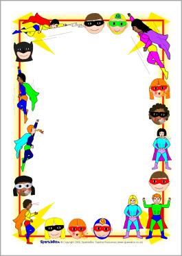 Superhero Border Clipart - Clipart Kid