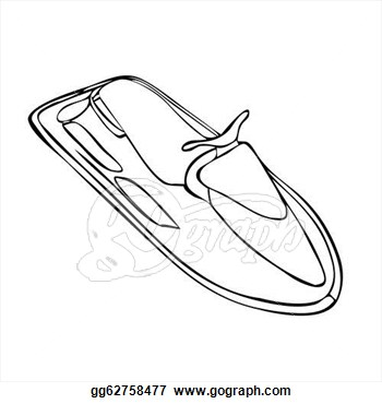 Vector Art   Isolated Jet Ski  Clipart Drawing Gg62758477   Gograph