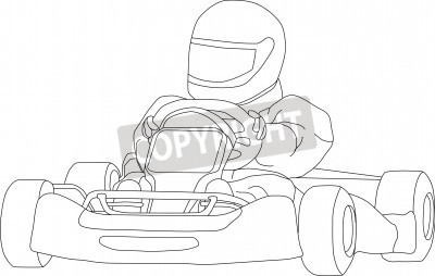 Vector   Go Kart Isolated On Background Vector Illustration