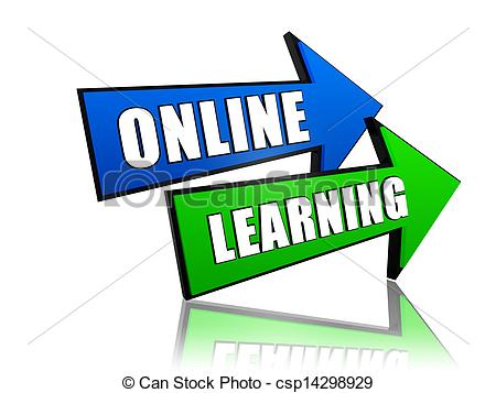 Arrows   Online Learning   Text In 3d    Csp14298929   Search Clipart
