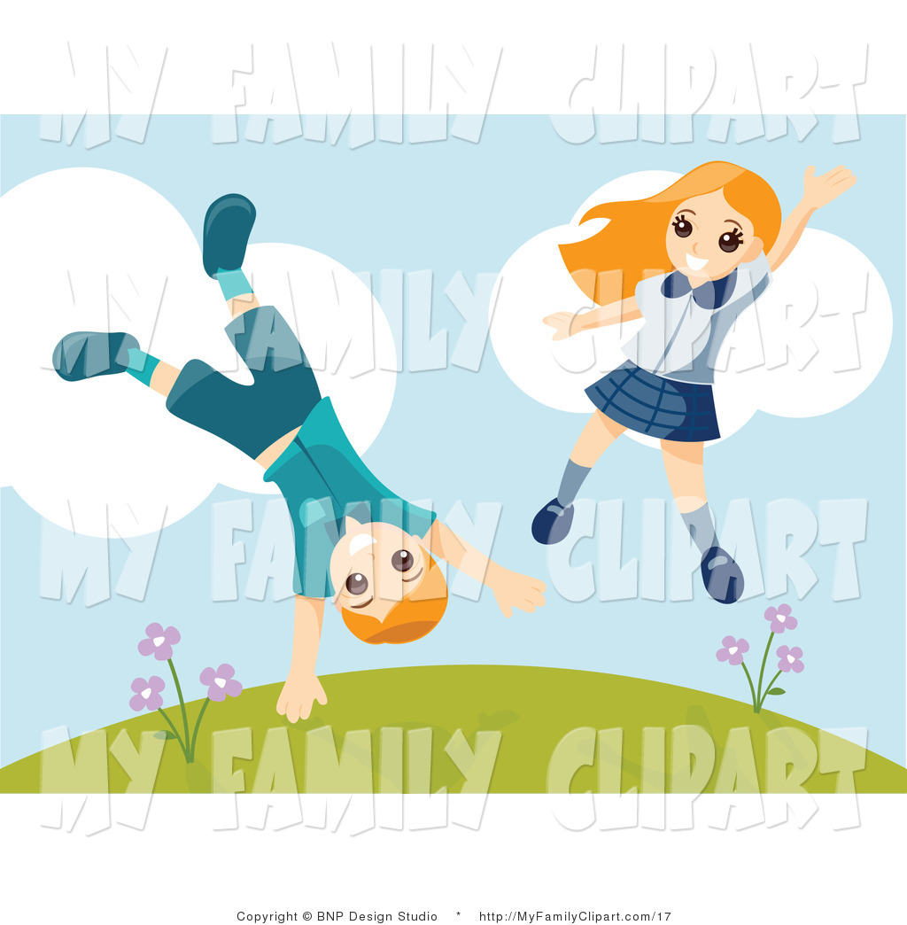 Children Playing Outside Clip Art   Jobspapa Com