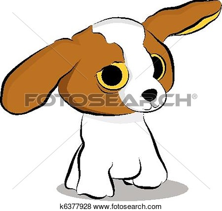Clip Art   Big Eyed Puppy Dog  Fotosearch   Search Clipart