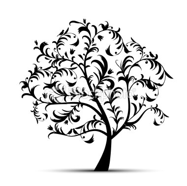 Clipart Tree Silhouette  Hot Pine Tree Silhouette Clip Picture On