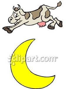 Cow Over Moon Clipart - Clipart Kid