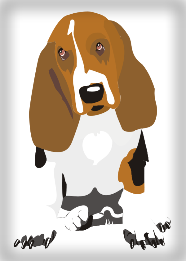 Dog Frame Vector Clip Art