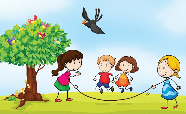 Image result for children playing outside clipart
