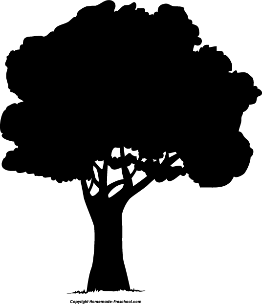 Home Free Clipart Silhouette Clipart Silhouette Tree