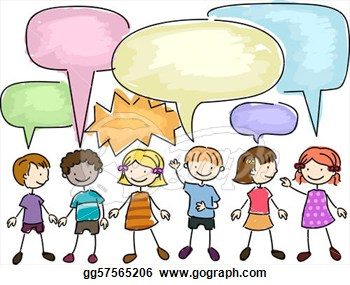 Illustration Of A Group Of Kids Talking  Stock Clipart Gg57565206