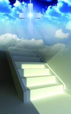 Image  Stairs To Heaven   Cross Image   Christart Com