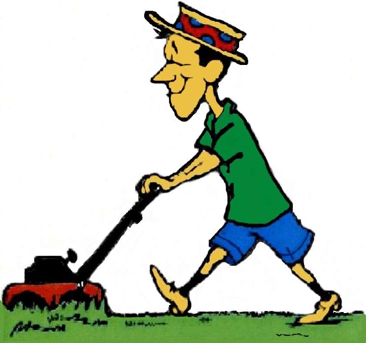 free cartoon lawn mower clipart - photo #18