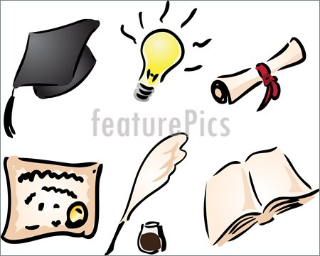 Learning    Education And Learning Icons Assorted Clipart Illustration