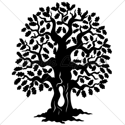 Oak Tree Silhouette Logo   Clipart Panda   Free Clipart Images