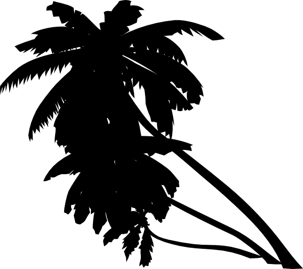 Palm Tree Black Clip Art At Clker Com   Vector Clip Art Online
