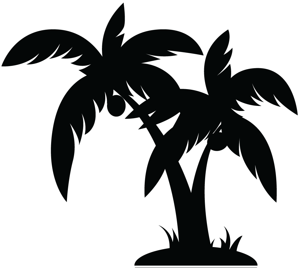 Palm Tree Bw Clipart - Clipart Kid