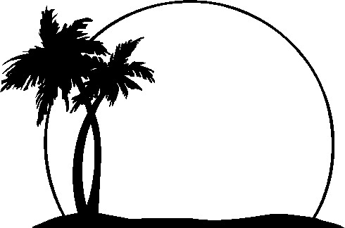 Palm Tree Clipart Black And White   Clipart Panda   Free Clipart