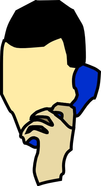 Person On The Phone Clipart