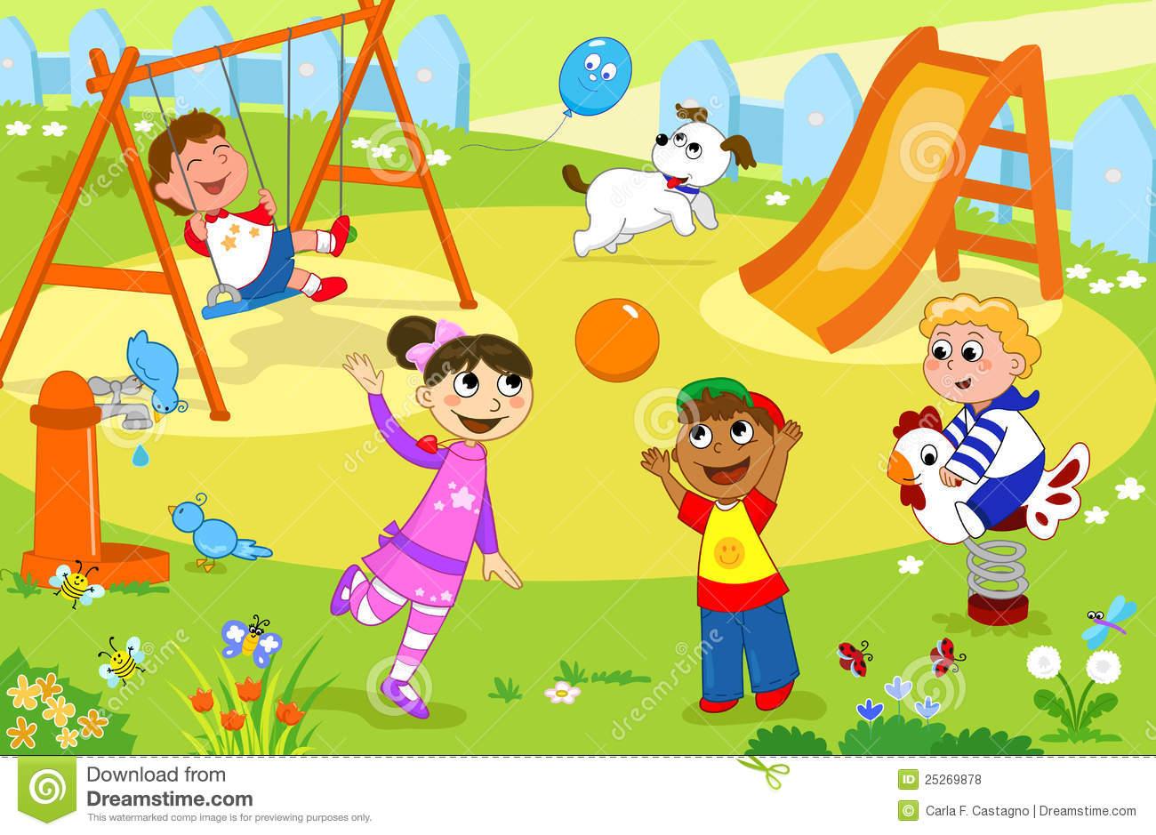 Little Kids Playing Outside Clip Art \x3cb\x3eoutside\x3c/b\x3e time ...