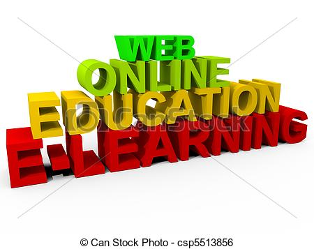 Stock Illustration Of E Learning   Online Learning Concept Csp5513856