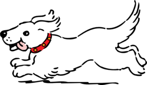 White Dog Clip Art At Clker Com   Vector Clip Art Online Royalty Free