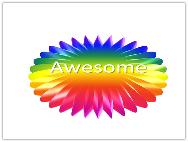 You Are Awesome Clipart A 32 Point Star Autoshape