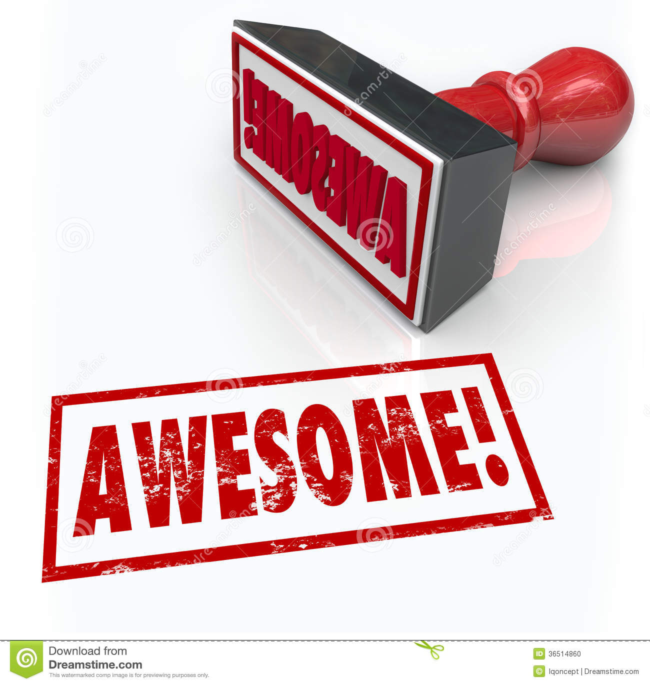 You Are Awesome Clipart Awesome Word Rubber Stamp 3d