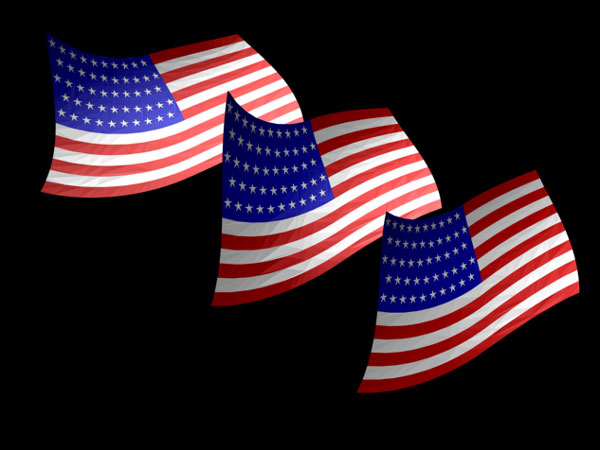 free animated clip art american flag - photo #32