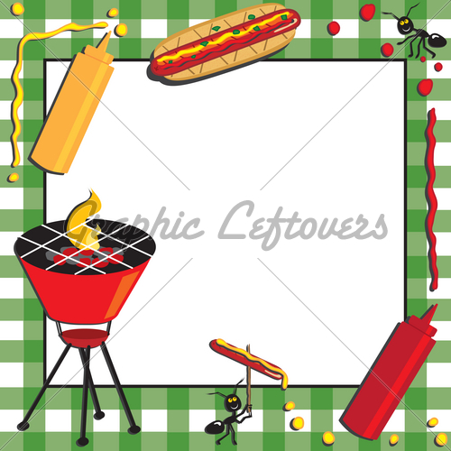 Barbecue Picnic Invitation With Special Guests   Gl Stock Images