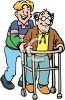Clipart Guide Elderly Illustrations Images Clipart