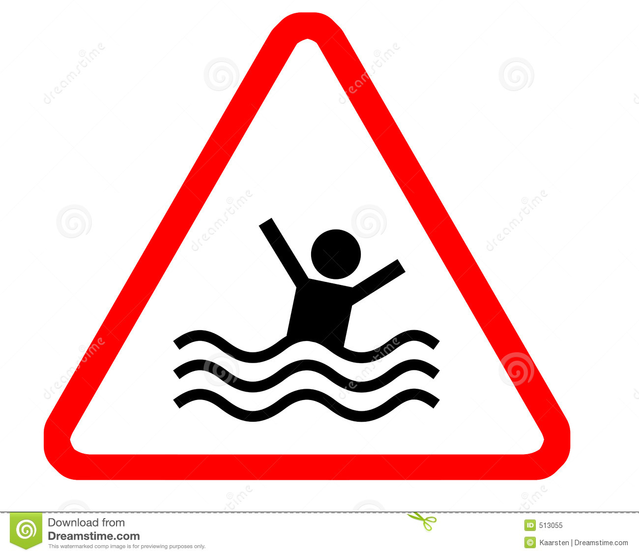 Drowning Swimmer Clipart