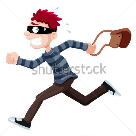 Home   Premium   People   Illustration Of Thief Running With Bag