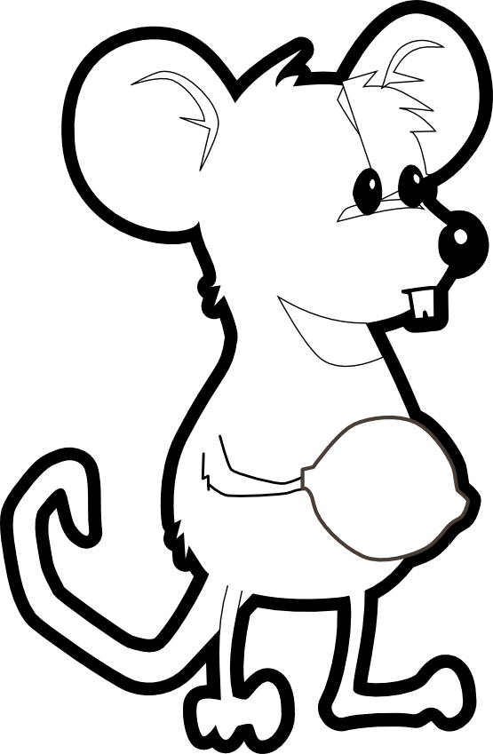Mouse clip art black and white - photo#31