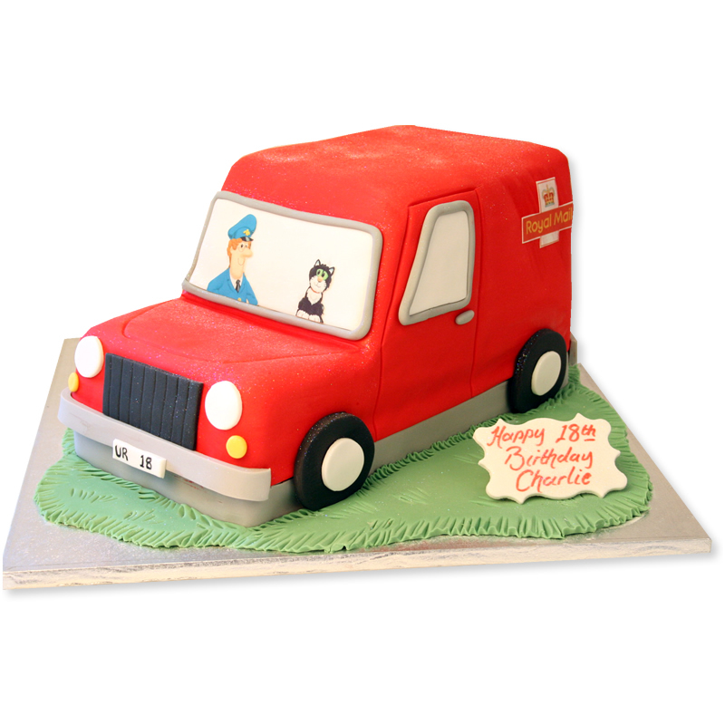 Postman Pat Van Cake   Toddler Birthday Cakes   The Cake Store
