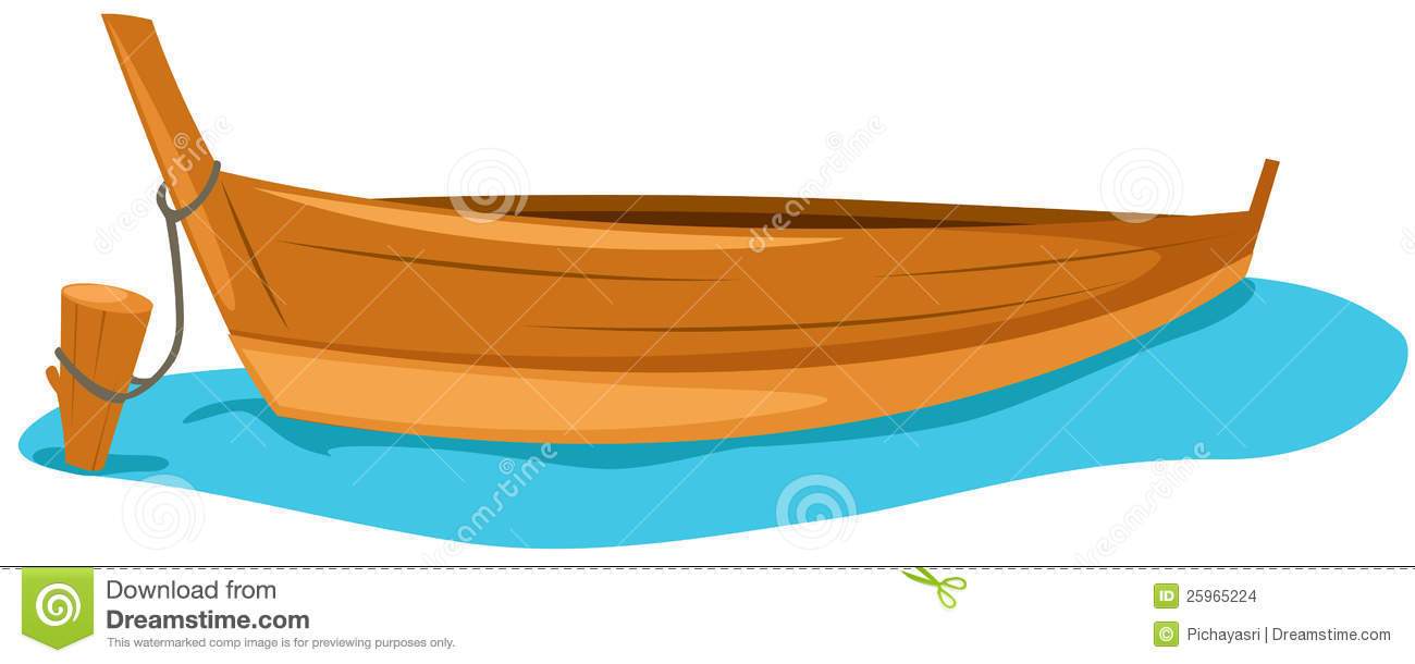 Wooden Boat Clipart - Clipart Kid