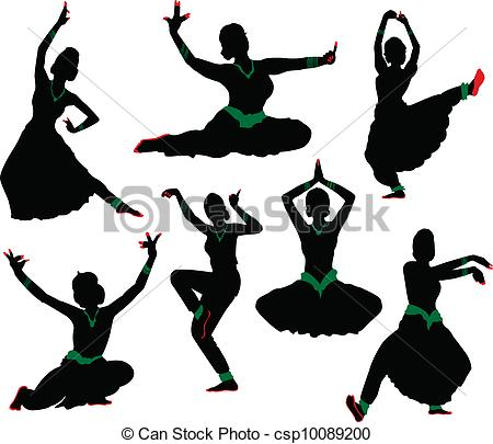 Silhouettes Of Dancers  Traditional Indian Dance