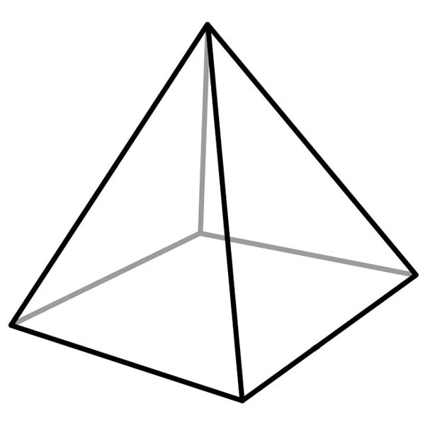 This Picture Features A Square Pyramid  A Square Pyramid Is A