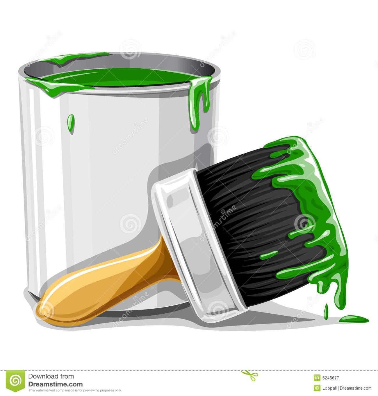 paint bucket and brush - photo #5