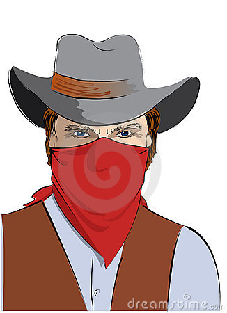 Vector Cowboy With Mask Bandit Stock Photos   Image  12743123